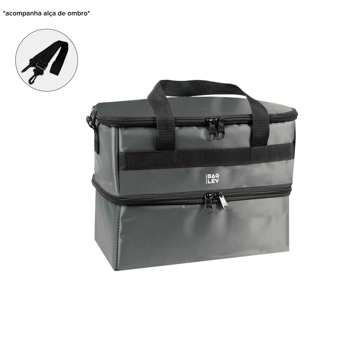 Bolsa Térmica T2 Marmita Fitness Quente E Frio - Bag Lev