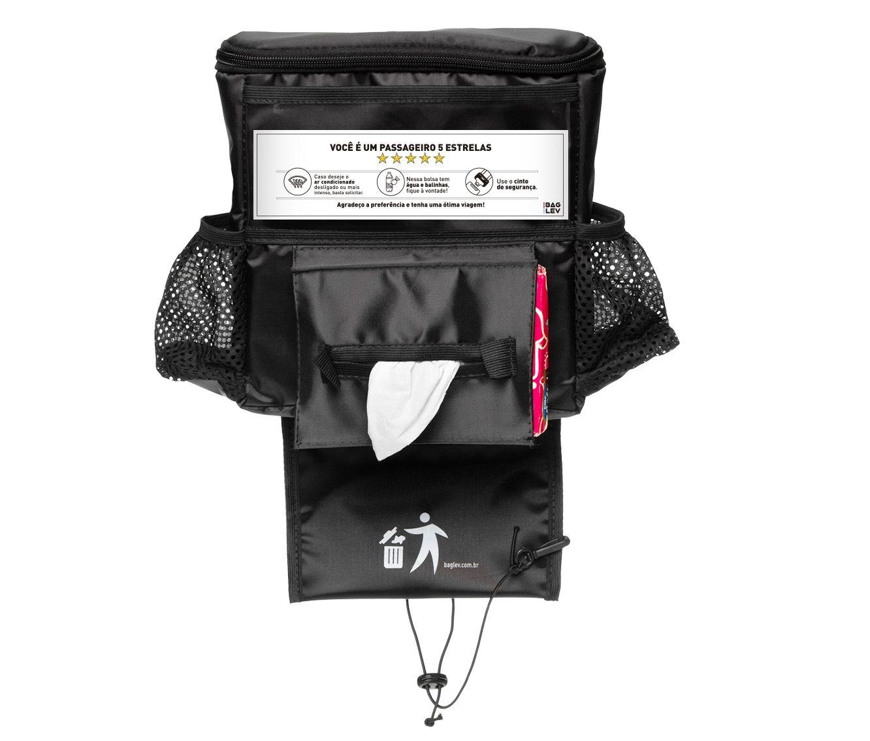 Bolsa térmica para carro com porta lenço + 2 gelos gel