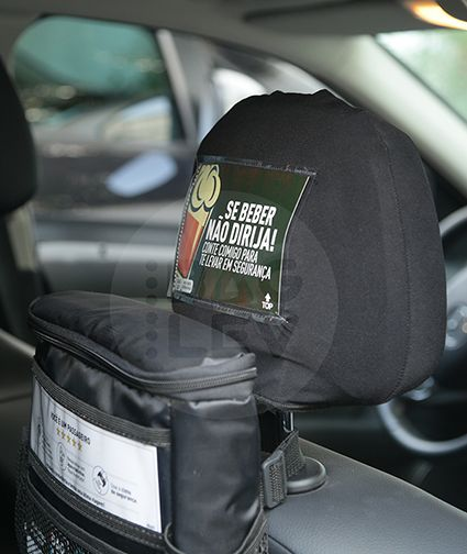 Combo 1 - Bolsa térmica para carro + 1 Gelo gel + 1 Capa para cabeceira + 1 Kit com 19 informativos