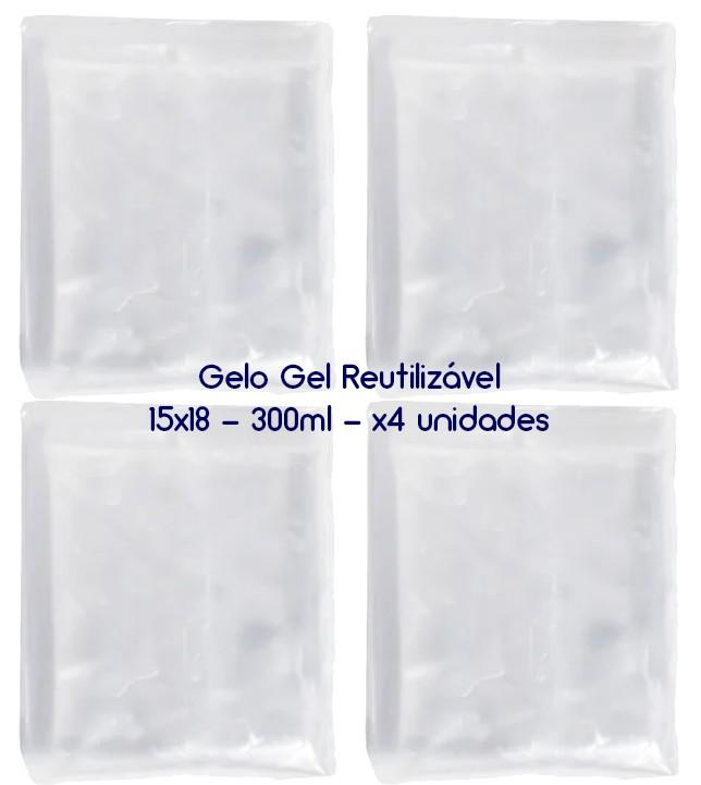 Gelo Gel Congelante Reutilizável 4 Unidades