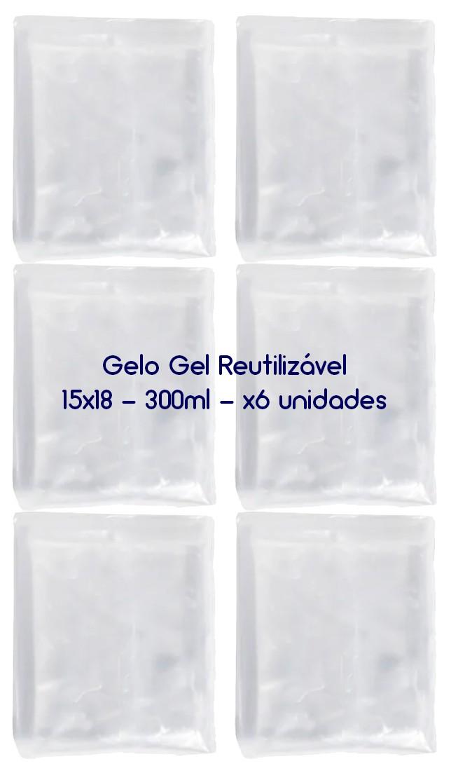Gelo Gel Congelante Reutilizável 6 Unidades