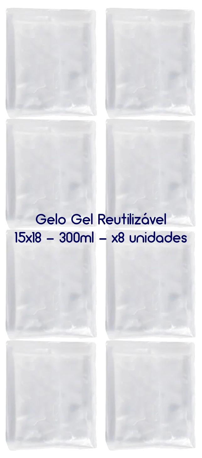 Gelo Gel Congelante Reutilizável 8 Unidades