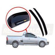 Calha De Chuva Com Escrita Em Alto Relevo Chevrolet Montana 2003 A 2010