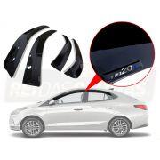 Calha de chuva Hyundai Nova Geração Hb20s Sedan 2020 Com Auto Relevo