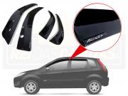 Calha De Chuva Ford Fiesta Rocam  4P 2003 A 2017 Com Emblema Alto Relevo