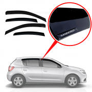 Calha De Chuva Com Escrita Em Alto Relevo Renault Novo Sandero 2014 A 2019