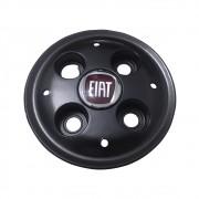 Calota Centro Miolo De Roda Fiat Strada preto com Emblema vermelho
