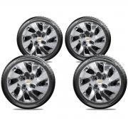 Calota Cromada Jogo 4Pçs Gm Corsa Classic Onix Aro 14 G133Chrj