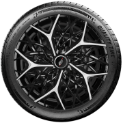 Calota Esportiva Aro 13 Elitte Universal Preta Com Prata Moove E3053