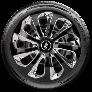 Calota Esportiva Aro 15 Elitte Universal Preta com Cromado linha Velox E5711