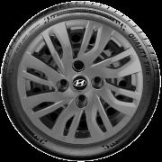 Calota Grafite Aro 14 Hyundai Hb20 Hb20S G344Gft