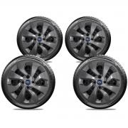 Calota Grafite Jogo 4Pçs Ford Novo Ka Fiesta Aro 14 G373Gftj