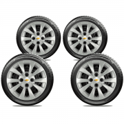 Calota Jogo 4Pçs Chevrolet Celta Corsa Prisma Aro 14 G019J