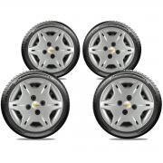 Calota Jogo 4Pçs Chevrolet Corsa Classic Celta Prisma Aro 13 G004J