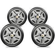 Calota Jogo 4Pçs Chevrolet Corsa Classic Celta Prisma Aro 13 G132J