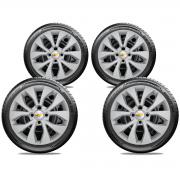 Calota Jogo 4Pçs Chevrolet Onix Prisma Aro 14 G374J