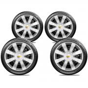 Calota Jogo 4Pçs Chevrolet Spin Meriva Corsa Aro 15 G875J