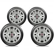 Calota Jogo 4Pçs Fiat Grand Siena Novo Palio Argo Cronos Aro 14 G055J