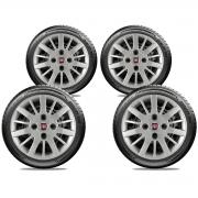 Calota Jogo 4Pçs Fiat Grand Siena Novo Palio Argo Cronos Aro 14 G073J