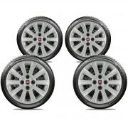 Calota Jogo 4Pçs Fiat Grand Siena Novo Palio Argo Cronos Aro 15 G018J