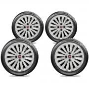 Calota Jogo 4Pçs Fiat Grand Siena Novo Palio Argo Cronos Aro 15 G242J