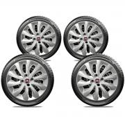 Calota Jogo 4Pçs Fiat Grand Siena Novo Palio Punto Ideas Aro 15 G225J