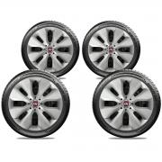 Calota Jogo 4Pçs Fiat Novo Palio Argo Cronos Idea Grand Siena Aro 15 G130J