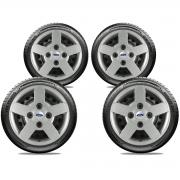 Calota Jogo 4Pçs Ford Fiesta Ká Escort Aro 13 G013J
