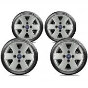 Calota Jogo 4Pçs Ford Fiesta Ká Escort Aro 13 G033J