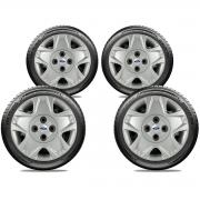 Calota Jogo 4Pçs Ford Fiesta Rocam Focus Novo Ka Aro 15 G025J
