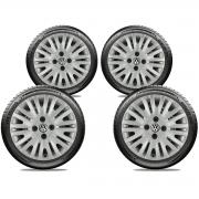 Calota Jogo 4Pçs Volkswagen Gol Saveiro Parati G2 G3 G3 Aro 14 G010J