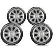 Calota Jogo 4Pçs Nissan March Versa 2012 A 2019 Aro 14 G086J