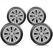 Calota Jogo 4Pçs Nissan March Versa 2013 A 2020 Aro 15 G246J