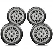 Calota Jogo 4Pçs Renault Clio Logan Sandero Aro 15 G045J