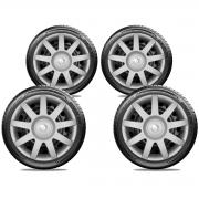 Calota Jogo 4Pçs Renault Clio Sandero Logan Aro 14 G873J