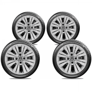 Calota Jogo 4Pçs Volkswagen Gol Saveiro G2 G3 G4 G5 Aro 14 G245J