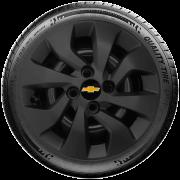 Calota Preto Fosca Mod. Original Aro 14 Chevrolet Novo Prisma Onix Preto Fosco Santo Andre - Abc - Sp G373Pf