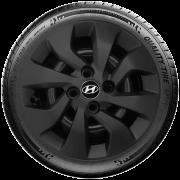 Calota Preto Fosco Aro 14 Hyundai Novo Hb20 Hb20S Preto Fosco G373Pf