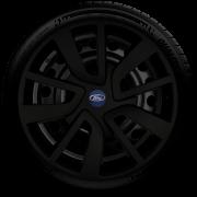 Calota Mod. Original Preto Fosco Aro 15 Ford Fiesta Focus Ká Ecosport Santo Andre - Abc - Sp G869Pf
