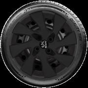Calota Mod. Original Preto Fosco Aro 15 Peugeot 206 207 208 307 Santo Andre - Abc - Sp G195Pf