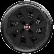 Calota Preto Fosco Aro 14 Fiat Palio Siena Argo Cronos 2019 G133Pf