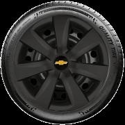 Calota Preto Fosco Aro 14 Chevrolet Corsa Celta Meriva G461Pf