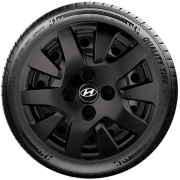 Calota Preto Fosco Aro 14 Hyundai Hb20 Hb20S G343Pf