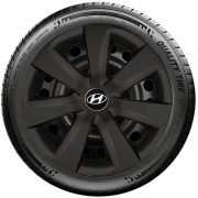 Calota Preto Fosco Aro 14 Hyundai Novo Hb20 Hb20S G461Pf