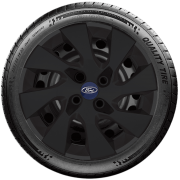 Calota Preto Fosco Aro 15 Ford Fiesta Ká Ecosport Focus G195Pf