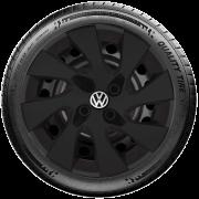 Calota Preto Fosco Aro 15 Volkswagen Gol Voyage G195Pf