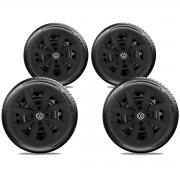 Calota Preto Fosco Jogo 4Pçs Volkswagen Gol G7 2014 A 2019 Aro 14 G249Pfj