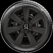 Calota Preto Fosco Mod. Original Aro 14 Peugeot 206 207 208 307 G461Pf
