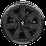 Calota Preto Fosco Aro 14 Renault Sandero Logan 2013 A 2019 G461Pf
