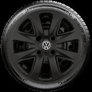 Calota Preto Fosco Mod. Original Aro 14 Volkswagen Up 2016 2017 2018 G340Pf